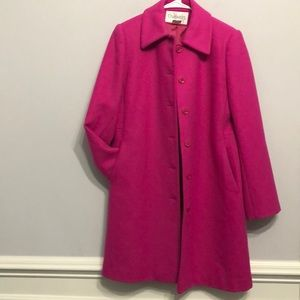 Vintage Chadwick's Hot Pink Coat Size 6